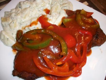 Zigeunerschnitzel mit Kartoffelsalat aller Andy - Rezept