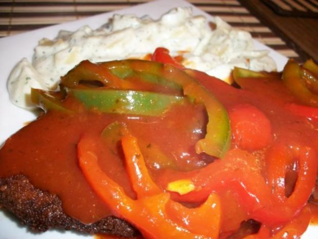 Zigeunerschnitzel mit Kartoffelsalat aller Andy - Rezept - Bild Nr. 2