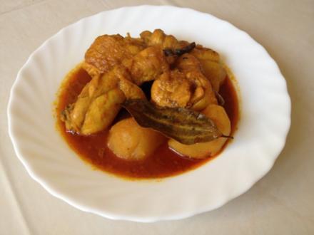 Scharfes indisches Hänchencurry - Rezept