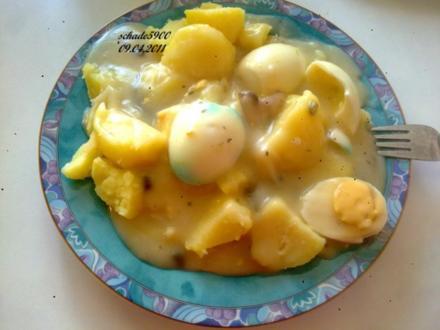 Eiergerichte: Moni's Süß-Sauer Eierfrikassee mit Kapern und Weißwein - Rezept
