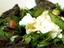 Salat mit grünem Spargel und Geflügelleber - Rezept