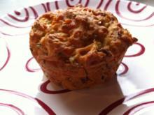 Herzhafte Schinken-, Käse- , Zwiebelmuffins/brot - Rezept