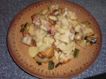Hamburger Pannfisch, mit Bratkartoffeln und Senfsoße - Rezept