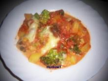 Auflauf: Broccoli-Kartoffel-Auflauf mit Tomatensugo - Rezept