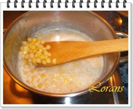 Erbseneintopf aus Eisbeinbrühe und Würstchen - Rezept - Bild Nr. 4