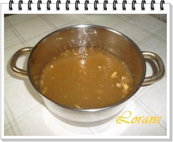 Erbseneintopf aus Eisbeinbrühe und Würstchen - Rezept - Bild Nr. 6