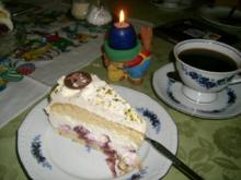 Kirschtorte mit Joghurt-Mascarpone-Haube>> - Rezept
