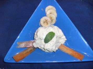 Vanille-Bananencreme mit Papaya - Rezept
