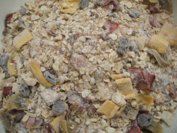 Vorrat: Müslimischung mit selbstgemachten Obstchips - Rezept