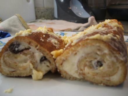 Dessert: Gefüllte Nuss-Pfannkuchen - Rezept