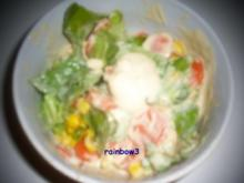 Salat: Buntes Gemüse mit Joghurt-Dressing - Rezept