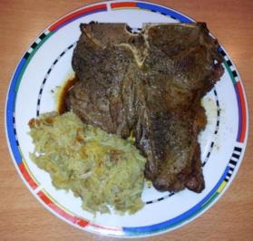 T-Bone Steak mit Röstlisticks - Rezept