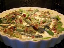 Quiche von grünem Spargel - Rezept
