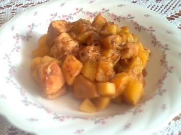 Rhabarber-Kartoffel-Ragou mit Hähnchenbrustfilet - Rezept