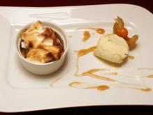 Lauwarmes Apfel-Ragout mit Baiserhaube - Rezept