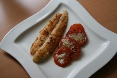 Pangasius Filet  mit Parmesan Tomaten - Rezept