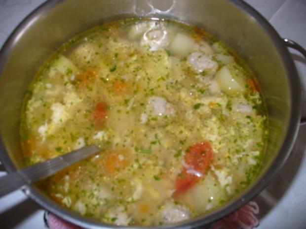 Klare Suppe mit Reis - Rezept - Bild Nr. 6