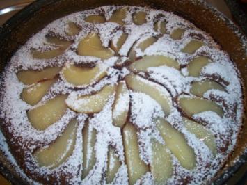 Kuchen Schoko-Birne-Mascarpone - Rezept