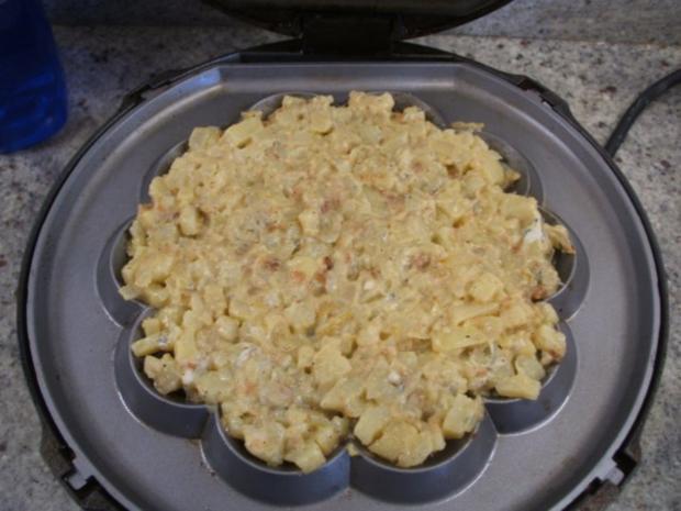 Pikantes Backen: Kartoffel-Käse-Waffeln - Rezept - Bild Nr. 5