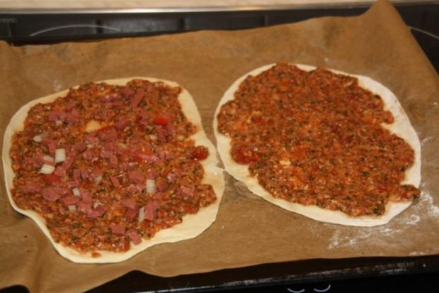 Lahmacun Türkische Pizza (scharf) - Rezept - Bild Nr. 2