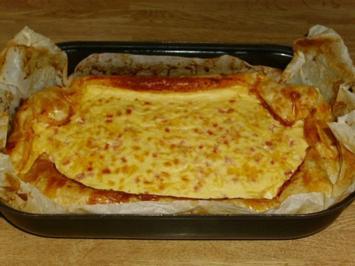 Rezept: großes Schinken-Käse Schiffchen