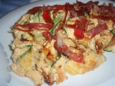 Zucchini-Omlett - Rezept