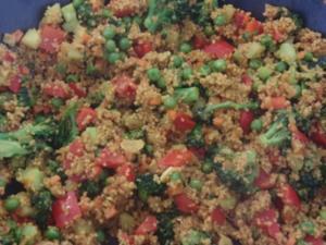 Couscous-Gemüse-Pfanne mit Harissa - Rezept