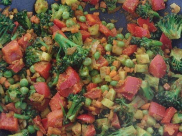 Couscous-Gemüse-Pfanne mit Harissa - Rezept - Bild Nr. 4
