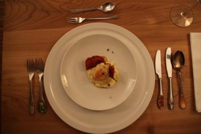 Jakobsmuschel auf Petersilienwurzelpüree mit Parma-Chip - Rezept
