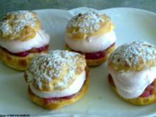 Fruchtige Windbeutel mit Erdbeersahne - Rezept
