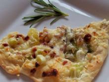 Spargel-Pizza mit getrockneten Tomaten und Ziegenfrischkäse - Rezept