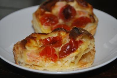 Mini-Lachs-Mozzarella-Quiches - Rezept