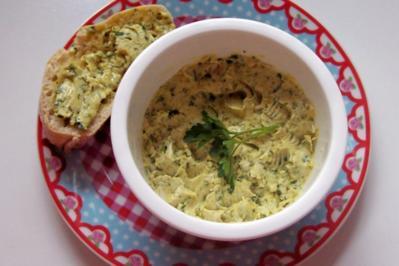 Milde Zitronen-Kräuterbutter mit Curry - Rezept