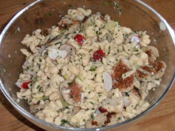 Spätzle-Weißwurst-Salat - Rezept