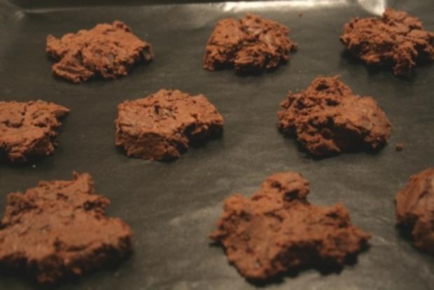 Double Chocolate Cookies - Echte Schokoladen Kekse - Rezept