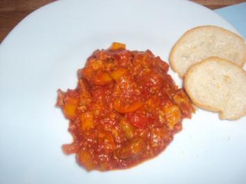 Lammfleisch mit Paprika - Rezept