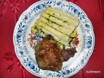 Entrecote in Knoblauch/Kräuter-Butter - Rezept