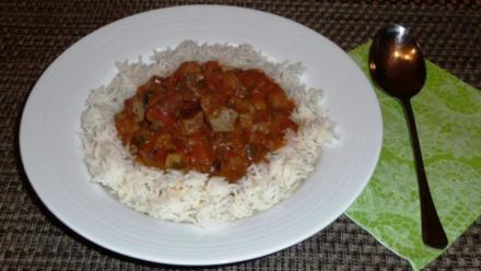 Lammcurry mit Tomaten und Aubergine - Rezept
