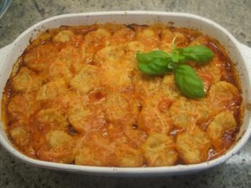 Kartoffeln: Casseruola di Gnocchi Rossi  con Carne - Rezept