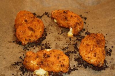 Panierte Hähnchenbrust mit Teuflischer Panade und Käse Schinkenfüllung - Rezept