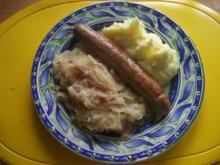 Sauerkraut mit Thüringer Bratwurst - Rezept