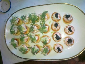 Lachstatar in Mini Pasteten - Rezept