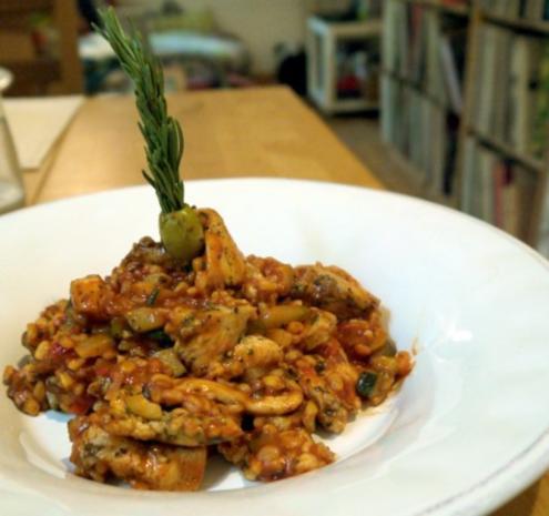 Würzige Hähnchen-Ebly-Pfanne - Rezept
