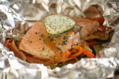 Wildlachs in Folie - Rezept