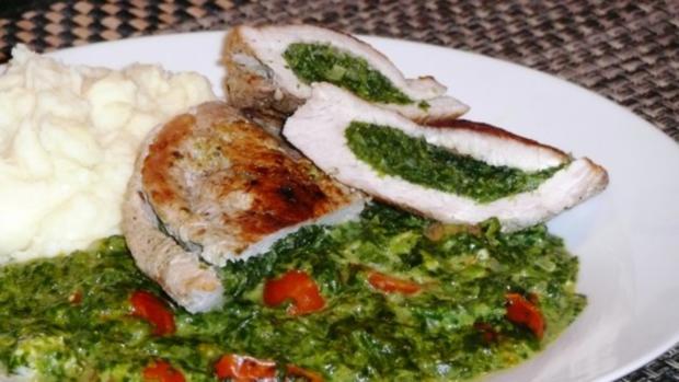 Spinat-Käse Schnitzel mit Kirschtomaten - Rezept - Bild Nr. 2