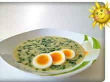 -`❊´- Spinatsuppe mit Bärlauch und Ei -`❊´- - Rezept