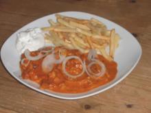 Gyros in Tomaten-Sahnesoße - Rezept