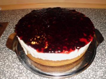 Heidelbeeren Käsesahne Torte - Rezept