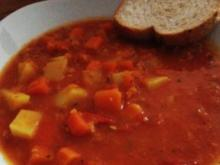 Rote Linsensuppe mit Curry - Rezept
