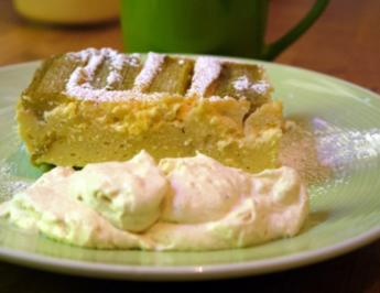Rhabarber-Ricotta-Kuchen mit Tonkabohne - Rezept